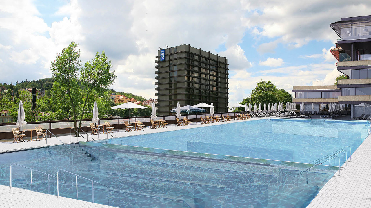 Vizualizace nové podoby bazénu (vdobě uzávěrky ještě probíhaly dokončovací práce).
