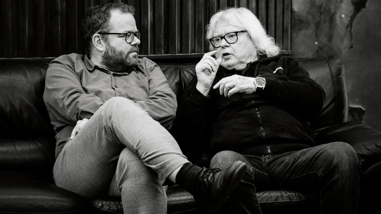 Osudové setkání zvláštního druhu: producent Petr Ostrouchov (vlevo) aVladimír Mišík.
