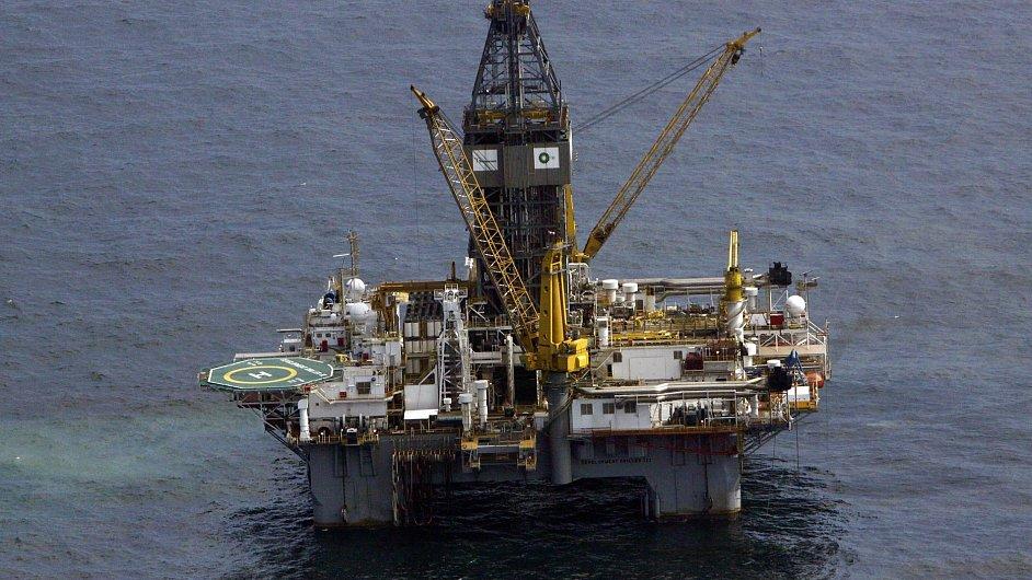 Těžební plošina v Mexickém zálivu.