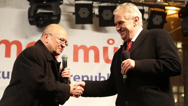 Vladimír Remek a Miloš Zeman
