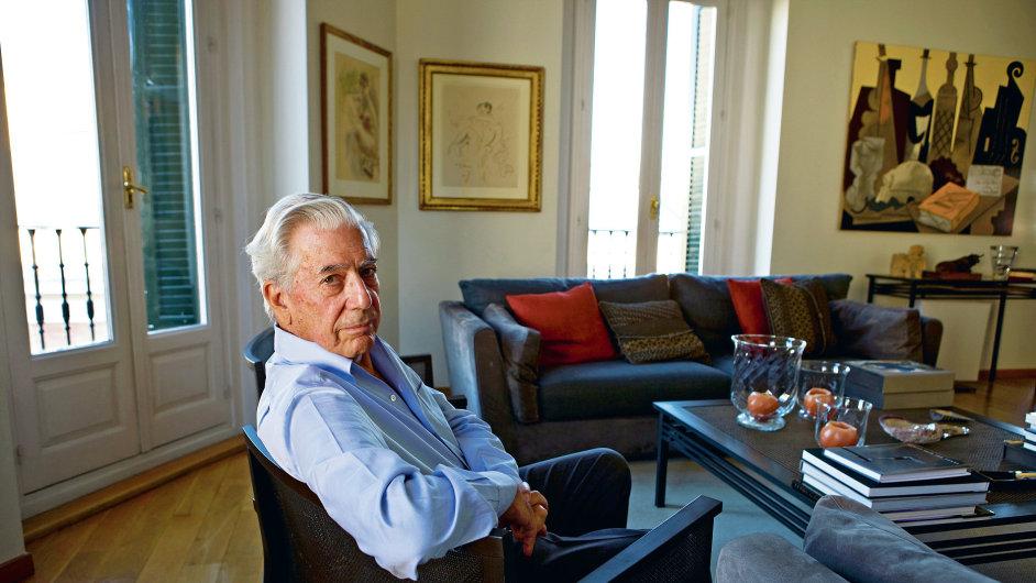 Spisovatel Vargas Llosa ve Venezuele podpořil studentské hnutí.