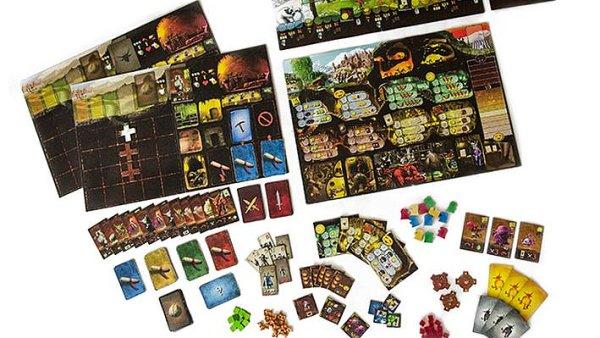 Desková hra Dungeon Lords.
