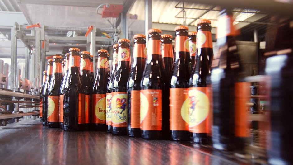 Stáčírna pivovaru v Bruggách