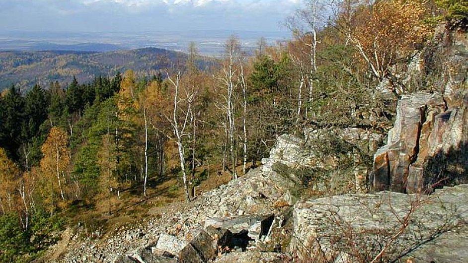 Brdské hvozdy na Plzeňsku s nejvyšším vrcholem Tok.