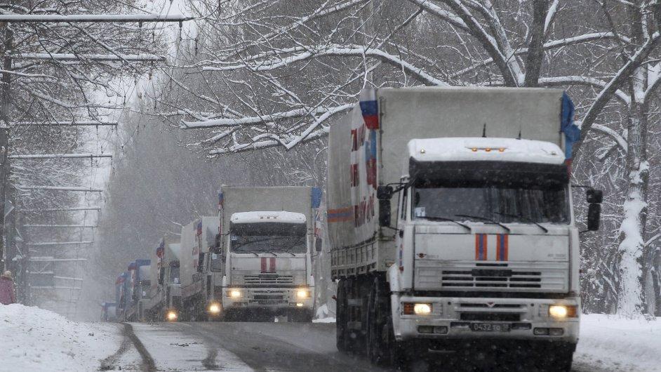 Na Ukrajinu dorazil ruský humanitární konvoj.