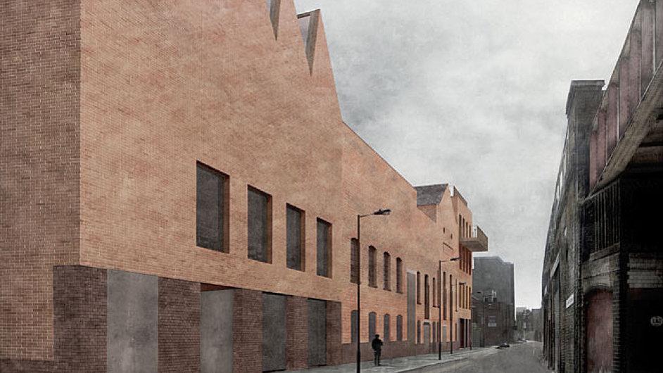 Návrh galerijního komplexu Damiena Hirsta v Londýně