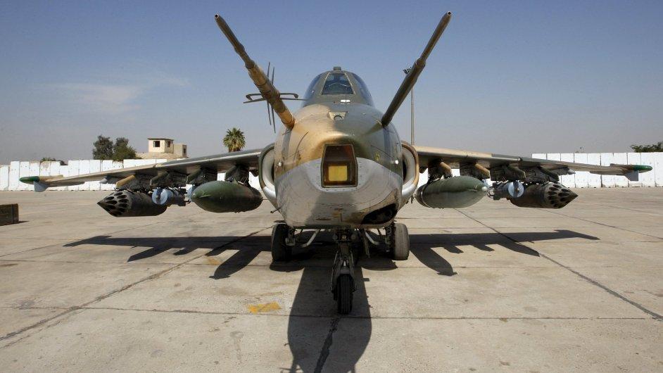 Letoun typu Suchoj připravený k zásahům na území Iráku
