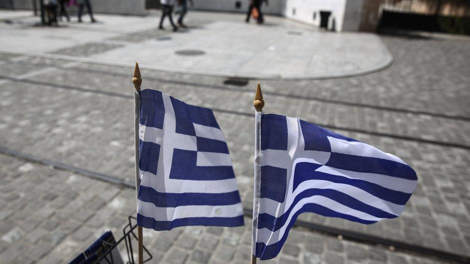 Řecká vlajka - Ilustrační foto.