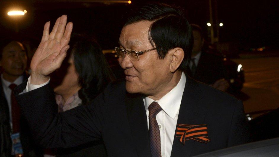Vietnamský prezident Truong Tan Sang navštíví Prahu.