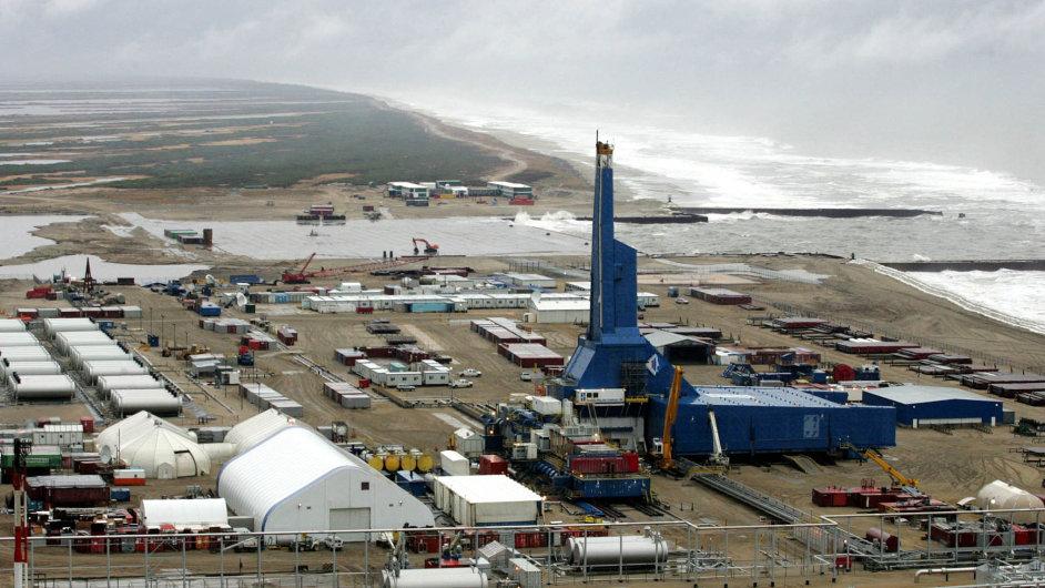 Vrt na nalezišti Sachalin-1. Právě o toto naleziště ropy a plynu možná ExxonMobil přijde, pokud se mu nepodaří vyřešit spory s ruskými úřady.