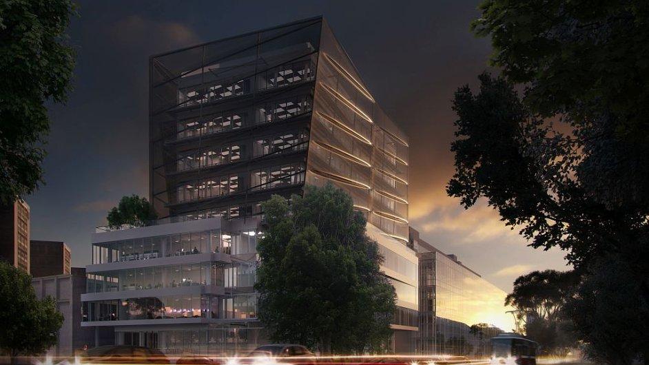 Vizualizace nové budovy CIIRC, která vyrůstá v pražských Dejvicích.