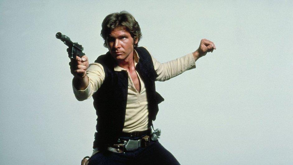 Harrison Ford alias Han Solo v době natáčení Epizody IV Hvězdných válek roku 1977.