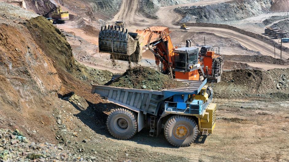 důl, těžba, železná ruda