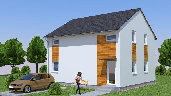Vizualizace typového domu RD Rýmařov.