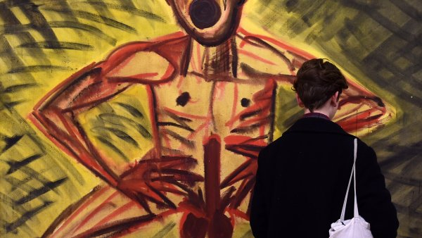 Snímek z výstavy Akt