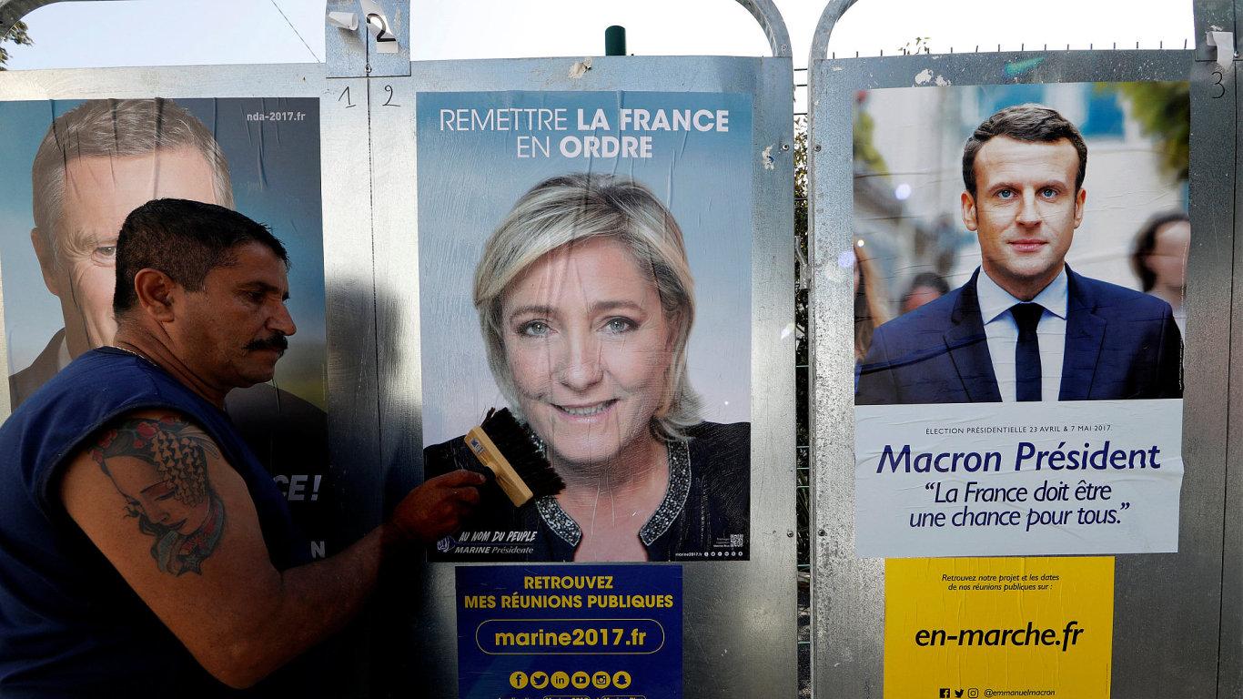 Francouzské volby macron le penová