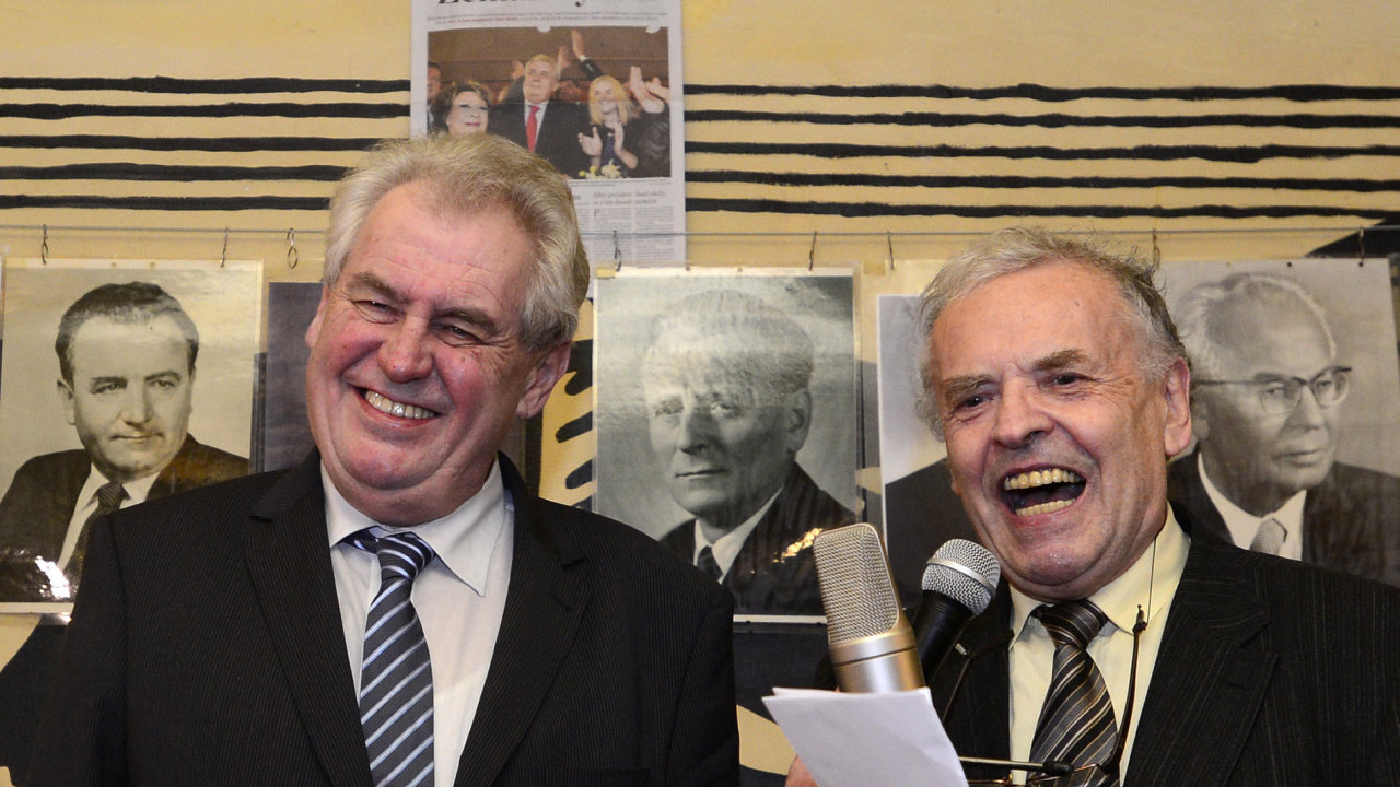 Miloš Zeman slavil zvolení prezidentem.