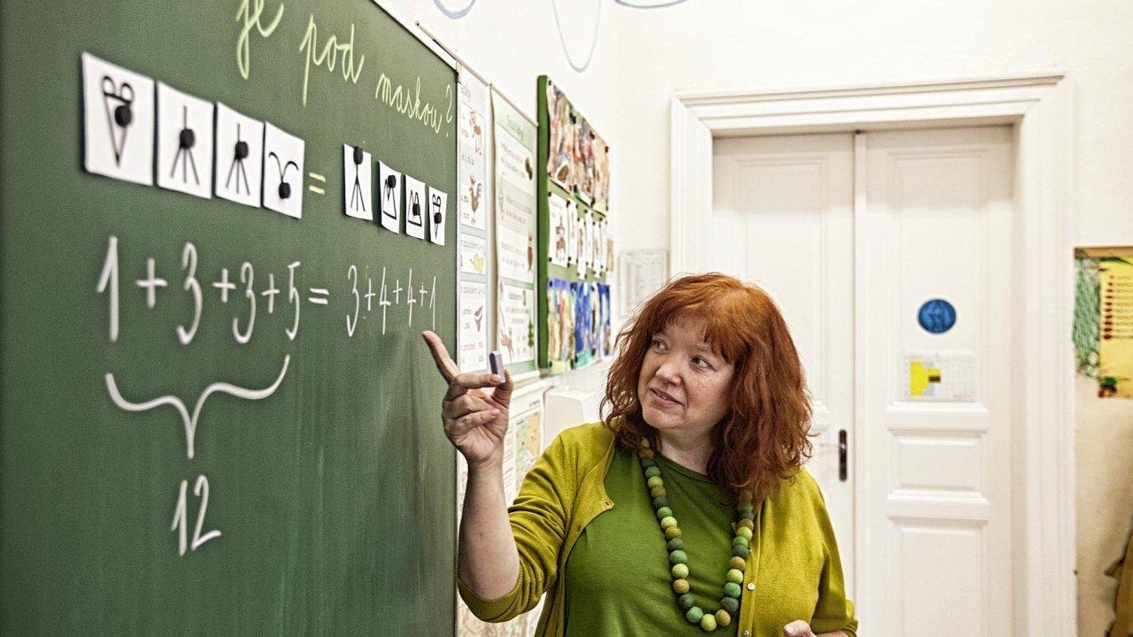 Matika jinak. Hejného metodou se matematika učí například napražské Základní škole usv. Štěpána (nasnímku).