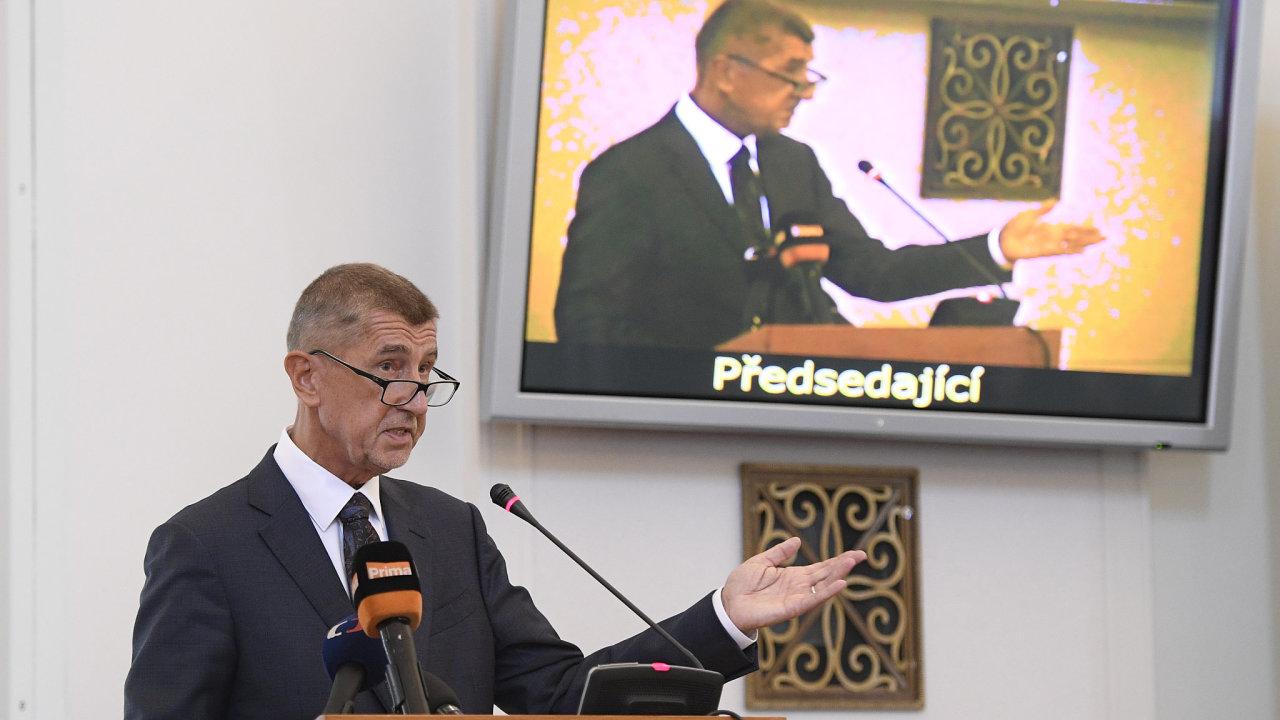 Premiér Andrej Babiš vystoupil 26. srpna 2019 v Praze na pravidelné poradě vedoucích zastupitelských úřadů ČR v zahraničí.