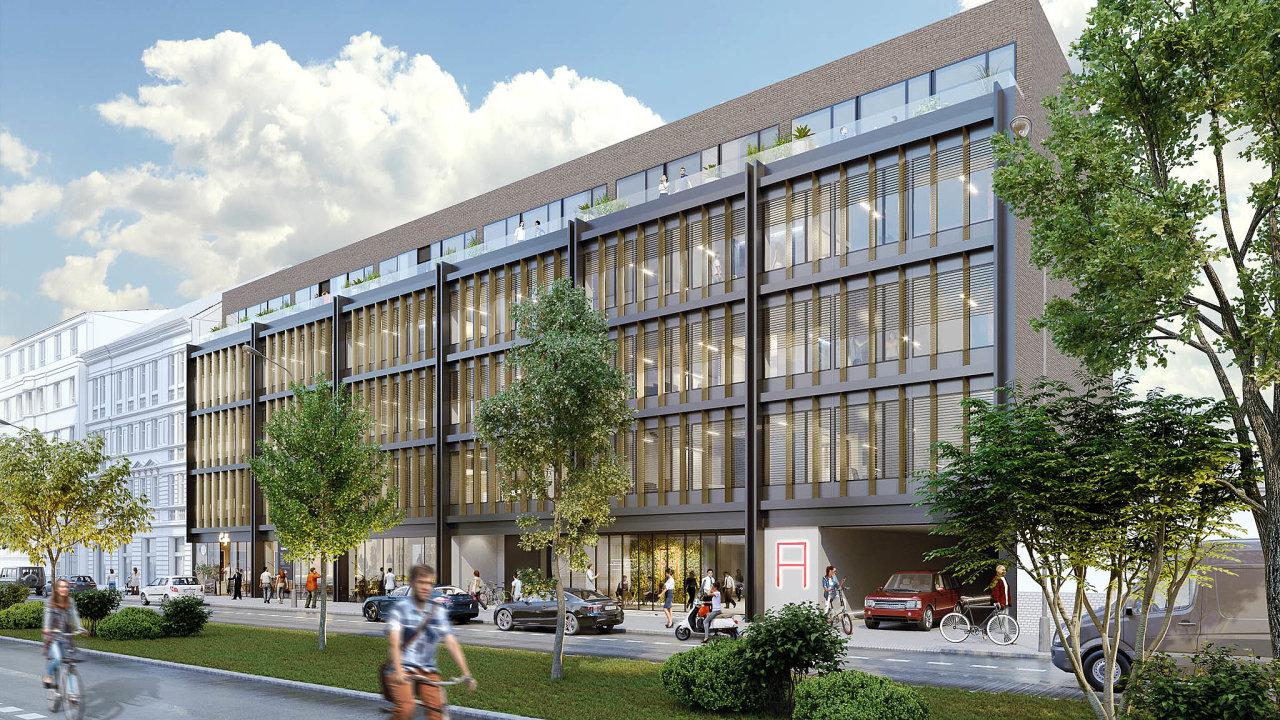 Developer UBM Development zahájil výstavbu kancelářské části projektu Astrid Garden vDělnické ulici vpražských Holešovicích. Jeho součástí bude i110 bytů.