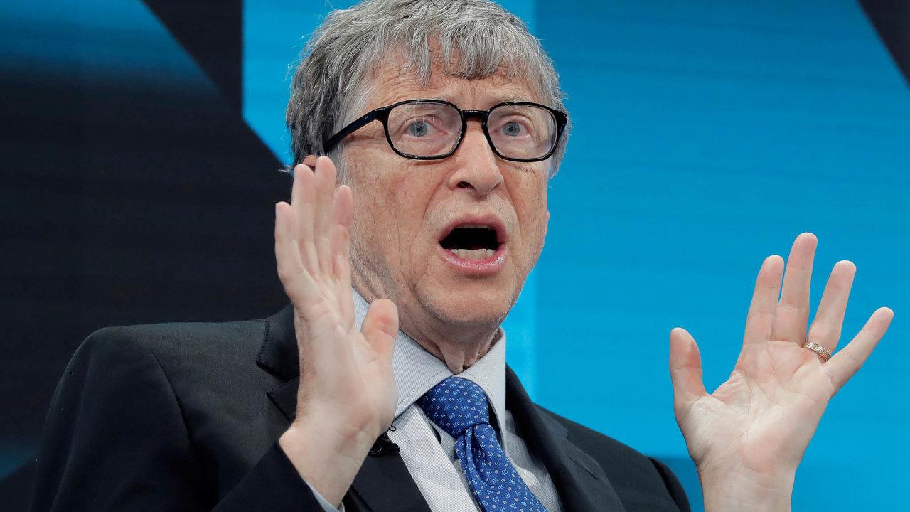 Gates vsadil navakcíny: Spoluzakladatel Microsoftu Bill Gates hodlá miliardami dolarů sponzorovat výzkum vakcín.