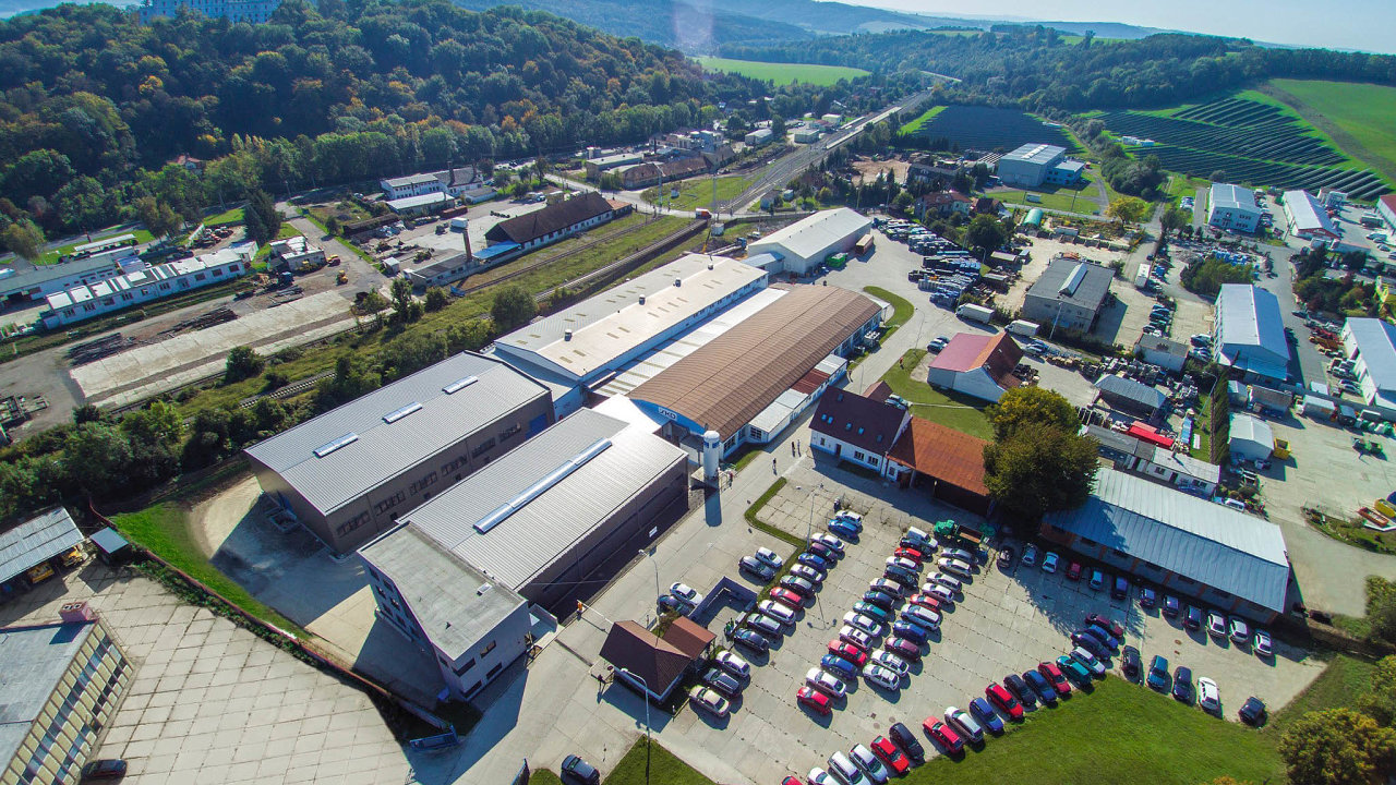 Areál firmy SKD v Bojkovicích. V současné době se v něm ale nevyrábí.