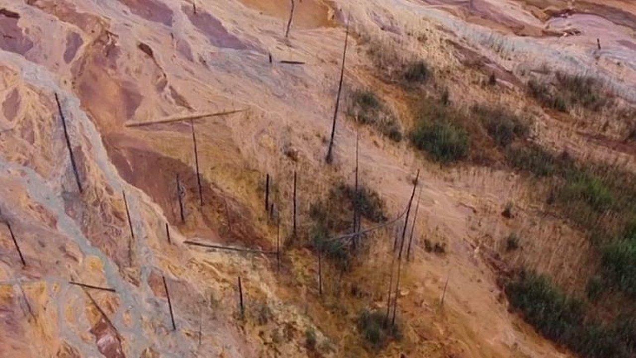 Stromy jako vyhořelé sirky. Kyselina na Urale požrala vše, co jí stálo v cestě.