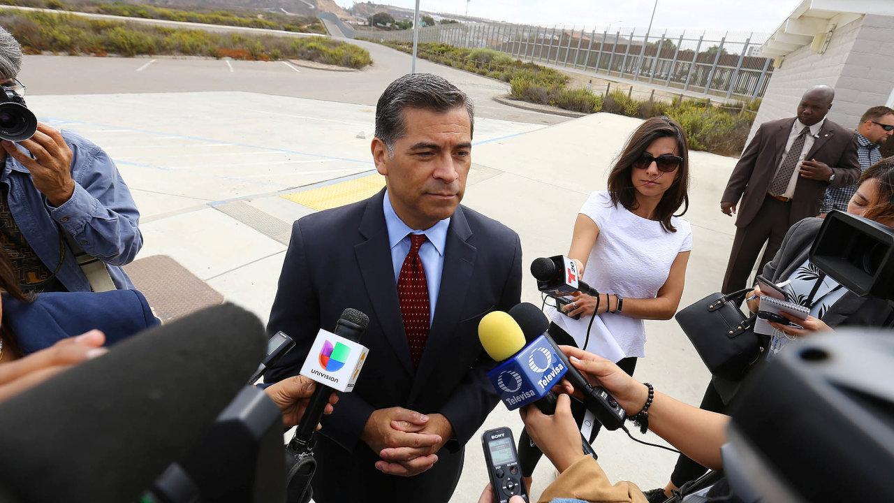 Xavier Becerra,generální prokurátor státu Kalifornie, má naspor sněmeckou automobilkou jasný názor: