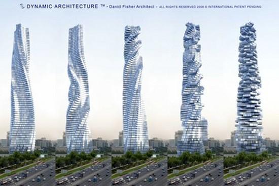 Dubaji a moskvě vyrostou pohyblivé mrakodrapy