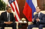 Prezidenti USA a Ruska Barack Obama a Dmitrij Medveděv