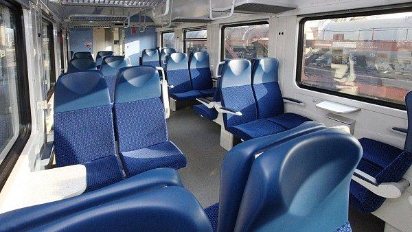 Ilustrační fotografie interiéru z modernizovaného vozu pro ČD ze společnosti Pars nova.