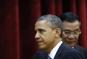 Barack Obama a kambodžský premiér Hun Sen