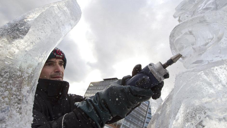Ledové sochy v Praze