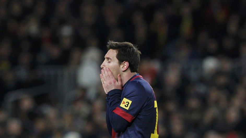 Šokovaný Lionel Messi