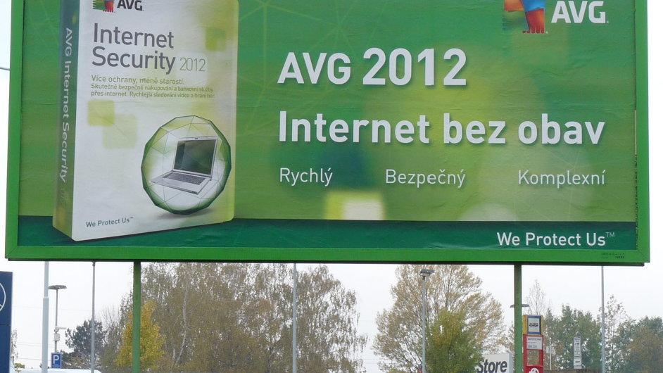 Reklamní billboard na AVG Internet Security