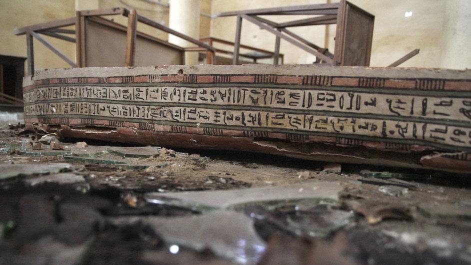 Fotografie ze zničeého egyptského muzea Malawi