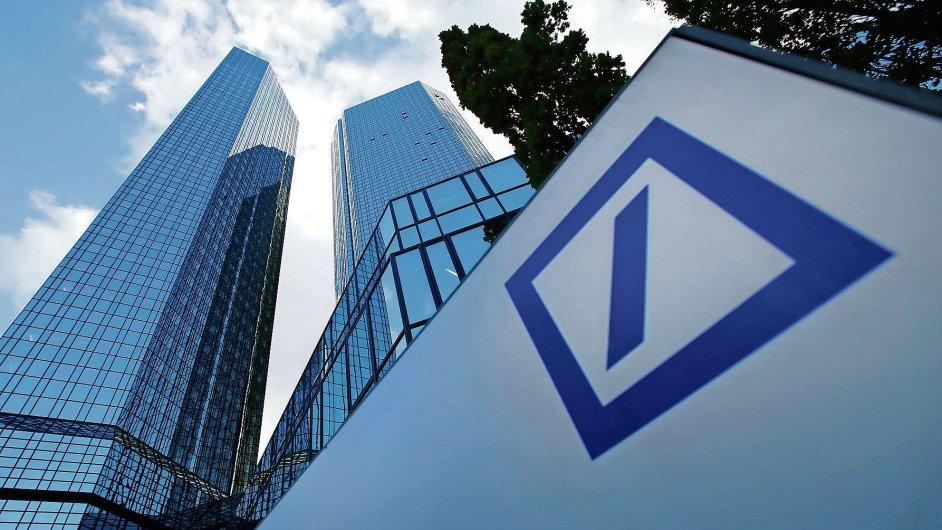 Sídlo Deutsche Bank ve Frankfurtu nad Mohanem.