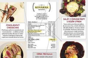 Moje účtenka: Restaurace Kovárna Frýdštejn
