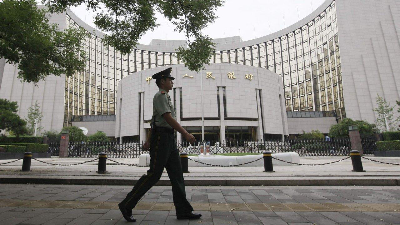 Budova čínské centrální banky.