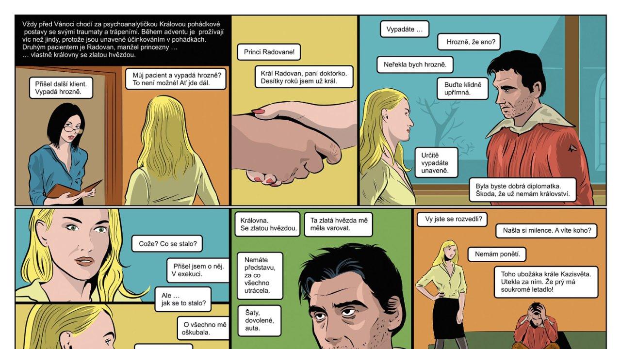 Komiks podle pohádky Princezna se zlatou hvězdou