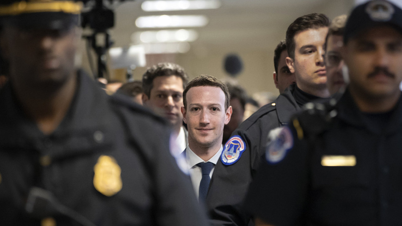 Facebook CEO Mark Zuckerberg arrives on Capitol Hill in Washington