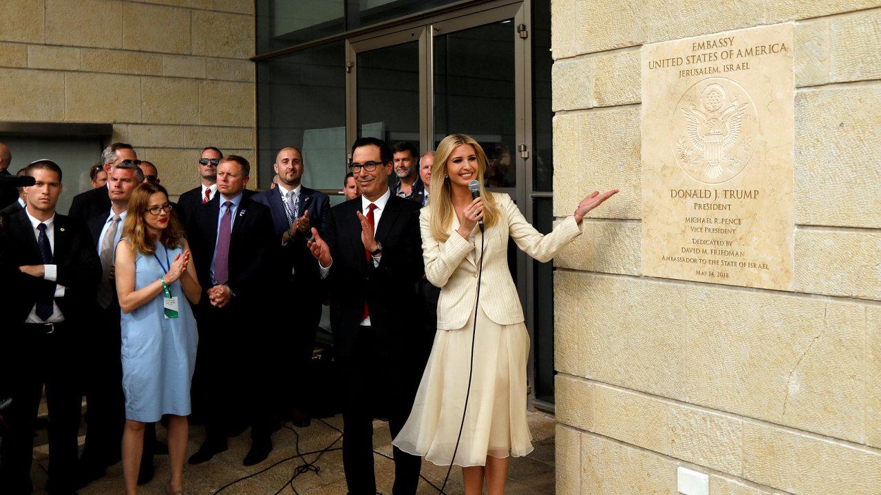 Ivanka Trumpová otevřela americkou ambasádu v Jeruzalémě.