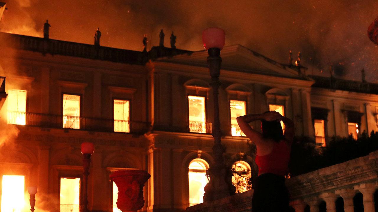 Brazílie, Národní muzeum, Rio de Janeiro, požár