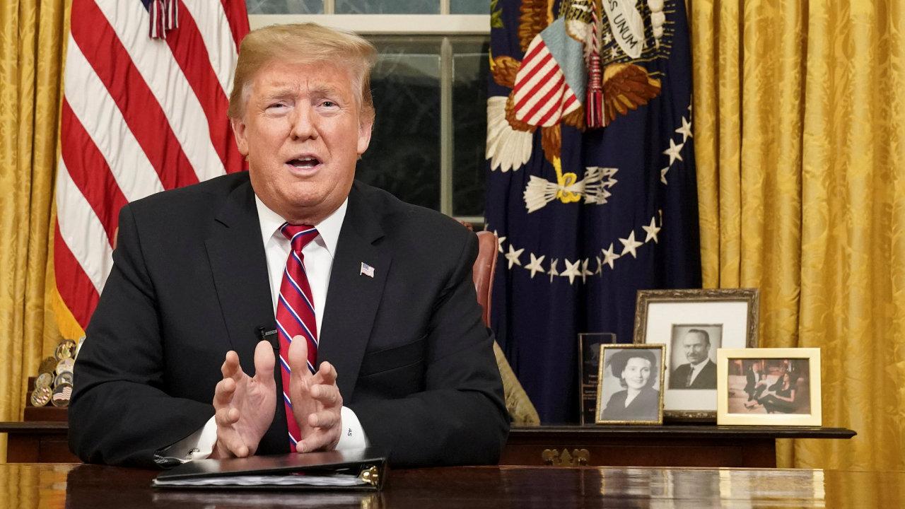 Donald Trump oválná pracovna