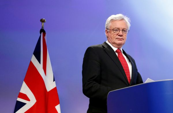 Britský ministr pro brexit David Davis navštívil ČR, 2018.