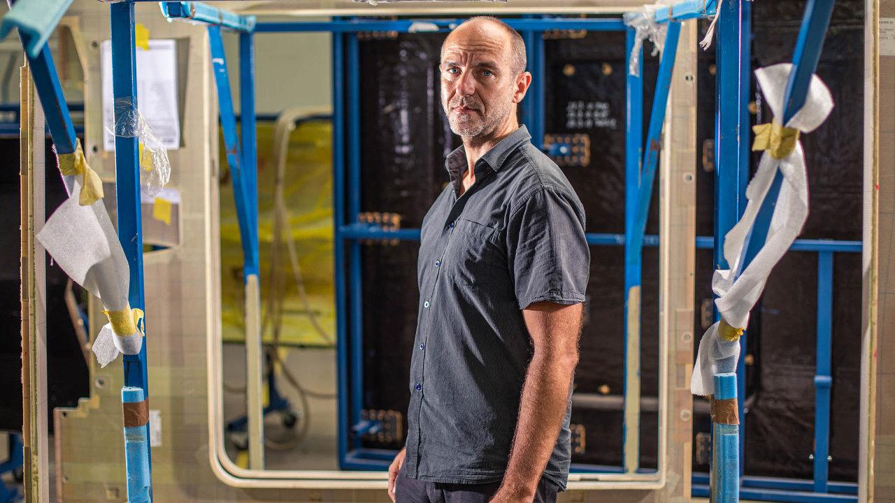 Richard Pavlica. Jeden zespolečníků vefirmě 5M má nastarosti hlavně rozvoj nových příležitostí, zejména vletectví avesmírných aplikacích.