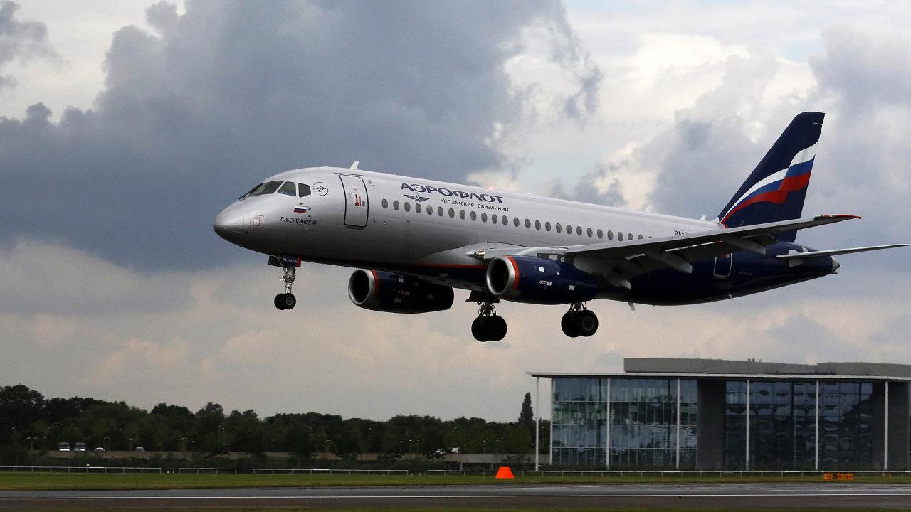 Poruchové letadlo: Firma Suchoj oznámila, že se soustředí navylepšení současného Superjetu 100, vývoj menší verze zrušila.