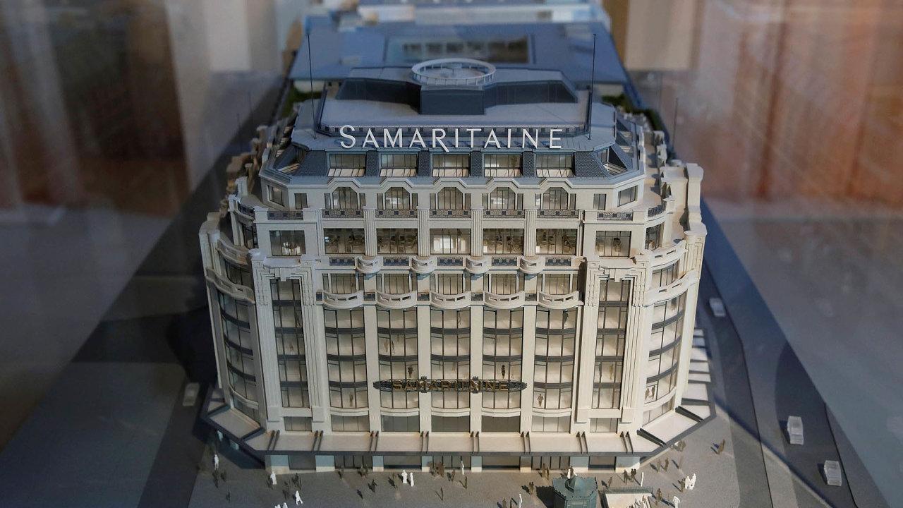 Maketa pařížského obchodního domu La Samaritaine
