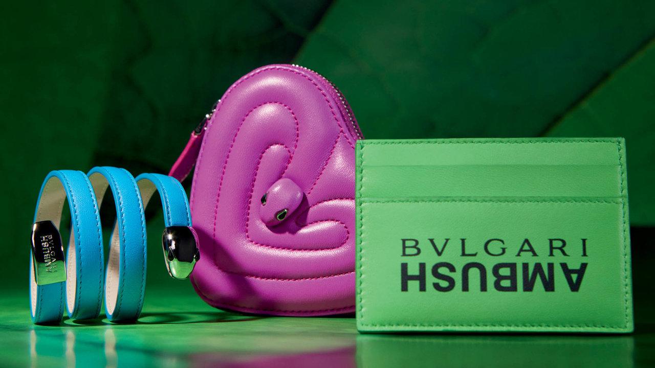 Krajta zelená se stala inspirací pro návrhářku Yoon, když chystala pro Bvlgari novou kolekci kabelek Serpenti nazvanou Serpenti Through the Eyes of Ambush.