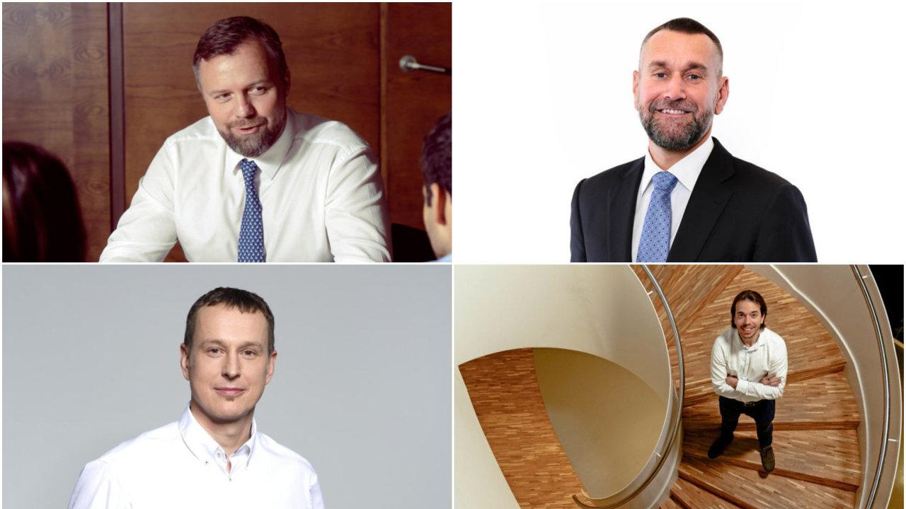 Zleva nahoře Jan Juchelka, Martin Borovka, Petr Dvořák a Jakub Havrlant.